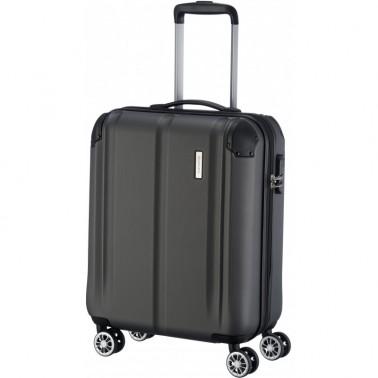 Чемодан Travelite City на 4 колесах S, черный 40 л, 3.1 кг, 40*55*20 см TL073047-04 (TL073047-04)