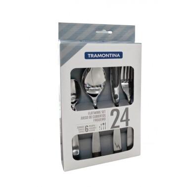 Столовые приборы TRAMONTINA COSMOS набор столовых приб. 24пр (стейк.нож) коробка (66950/014)