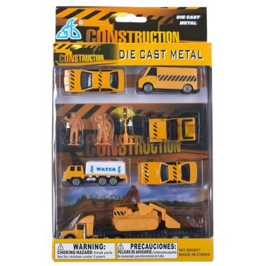 Набор мини транспорта GW Строительный 10 эл. 3 вида