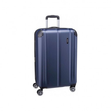 Чемодан Travelite City на 4 колесах M exp., синий 78/86 л, 3.9 кг, 44*68*28 см TL073048-20 (TL073048-20)