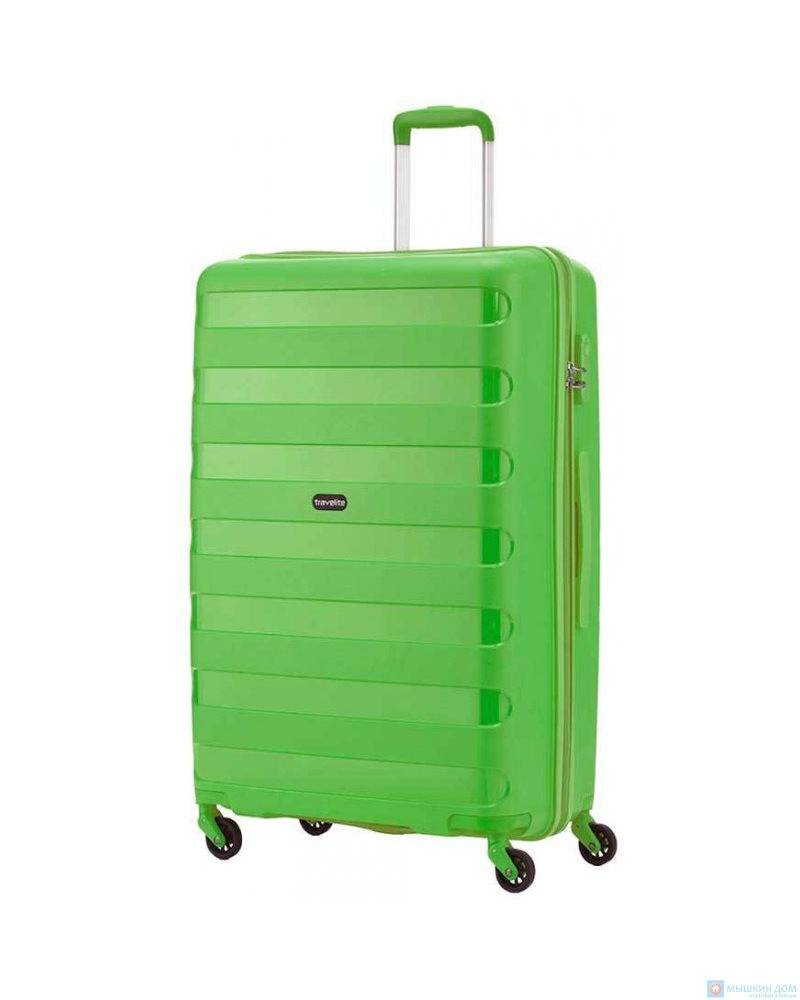 Чемодан Travelite Nova на 4 колесах М зеленый 67 л, 3.2 кг, 45*66*26 см TL074048-80 (TL074048-80)
