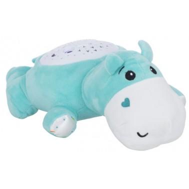 Мягкая музыкальная игрушка с проектором Funmuch Бегемот с проектором