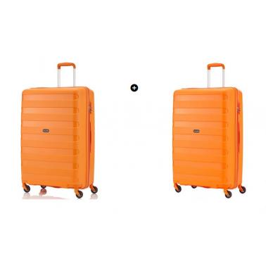 Набор чемоданов Travelite Nova на 4 колесах М+L (67л и 99л) оранжевый TL074048-87 + TL074049-87