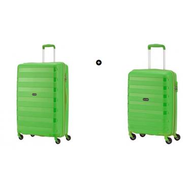 Набор чемоданов Travelite Nova на 4 колесах S+M (37л + 67л) зеленый TL074047-80 + TL074048-80