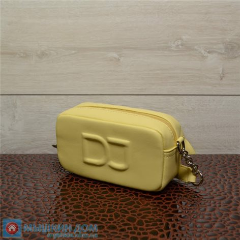 Сумка экошкіра David Jones CM6260-1 Feint Yellow (19x11x4cm)