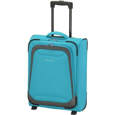 Чемодан Travelite Naxos 59 на 2 колеса S голубой 38 л, 2.4 кг, 38*52*22 см TL590007-23 (TL590007-23)