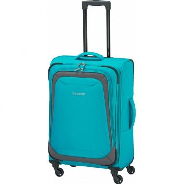 Чемодан Travelite Naxos 59 на 2 колеса M голубой 61 л, 3 кг, 42*64*25 см TL590048-23 (TL590048-23)
