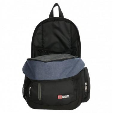 Рюкзак Enrico Benetti Almeria с отделом для iPad черный, 20 л, 27*46*16 см Eb47167 001 (Eb47167 001)