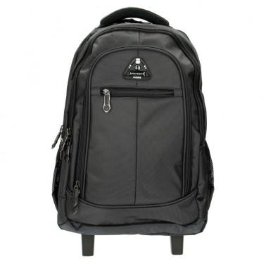 Рюкзак Enrico Benetti Barbados на 2 колесах, отдел для ноутбука 17' черный, 43 л, 33*48*27 см Eb62024 001 (Eb62024 001)