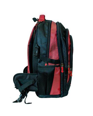 Рюкзак Enrico Benetti Barbados с отделом для ноутбука 17' черно-красный, 40 л, 33*48*25 см Eb62014 618 (Eb62014 618)