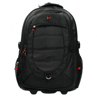 Рюкзак Enrico Benetti Cornell на 2 колесах, отдел для ноутбука 17' черный, 55 л, 35*50*32 см Eb47085 001 (Eb47085 001)