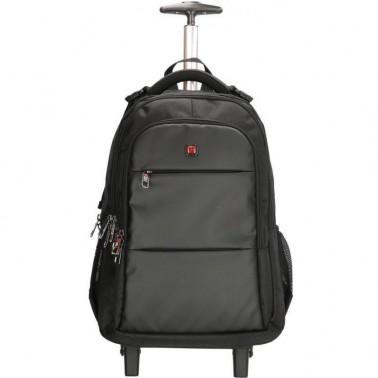 Рюкзак Enrico Benetti Downtown на 2 колесах, отдел для ноутбука 17' черный, 30 л, 34*50*22 см Eb62064 001 (Eb62064 001)