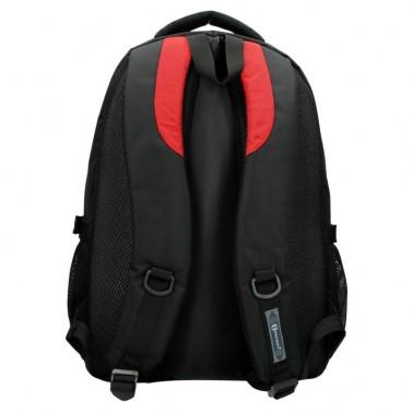 Рюкзак Enrico Benetti Sevilla с отделом для ноутбука 15.6' черно-красный, 34 л, 32*44*24 см Eb62027 618 (Eb62027 618)