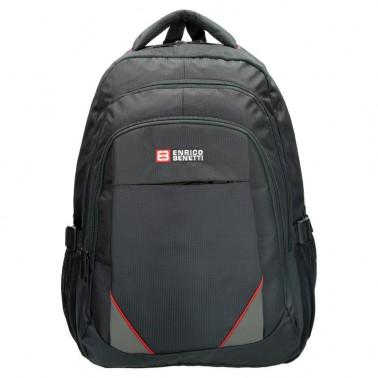 Рюкзак Enrico Benetti Valladolid с отделом для ноутбука 17' черно-красный, 39 л, 34*48*24 см Eb62030 618 (Eb62030 618)